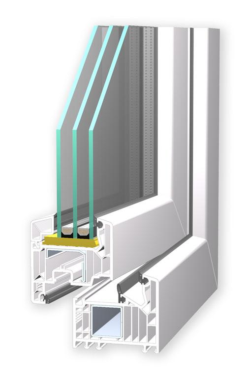 Kunststofffenster Softline 82